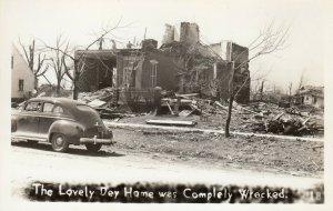 RP: BUNKERHILL , Illinois , 1948 ; Tornado , Dey Home