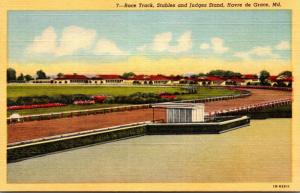 Maryland Havre de Grace Race Track Stables and Judges Stand Curteich