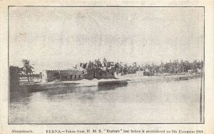 br104940 kurna mesopotamia  iraq Ship HMS Espiegle turkey