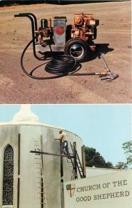 Midland Park NJ~Northeast Industries~High Pressure Washer Cleans Church~1960s PC
