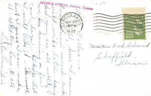 Seneca KS~Art Deco Hospital~Real Photo Postcard RPPC 1947 Schwind~Sheffield IL