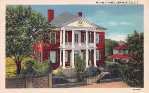Pringle House, Charleston, South Carolina, Early Linen Postcard, Unused