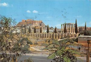 Greece Athens Acropolis and Temple of Olympian Zeus, Temple de Jupiter