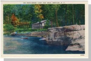 Beautiful Brevard, NC Postcard, Rock-Brook Camp, Near Mint!