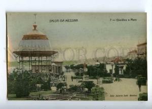 233069 ITALY Saluti da MESSINA Garden Sea Vintage postcard
