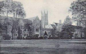 North Carolina Durham Chapel Spire Union Dormitory Duke University Albertype