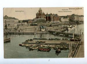 168162 Finland HELSINKI South Harbour Vintage color PC