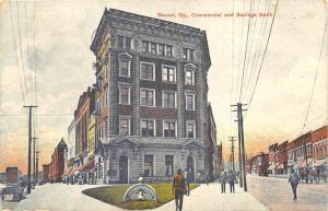 Macon GA Commercial and Savings Bank Store Fronts Postcard