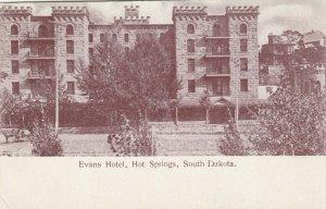 HOT SPRINGS , South Dakota , 1901-07 ; Evans Hotel