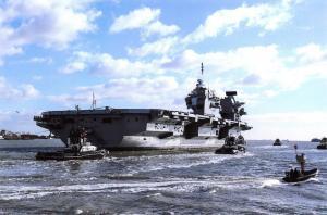 Postcard HMS Queen Elizabeth Aircraft Carrier Royal Navy 2018 84A