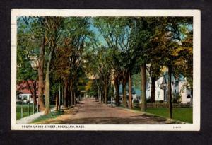MA South Union St Rockland Mass Massachusetts Postcard Carte Postale PC Vintage