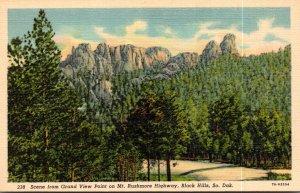 South Dakota Black Hills Scene From Grand View Point On Mt Rushmore Highway C...