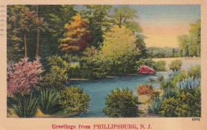 New Jersey Greetings From Phillipsburg 1947