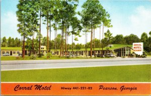 Postcard Corral Motel in Pearson, Georgia~132346