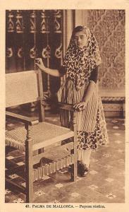 Spain Palma de Mallorca - Payesa rustica, traditional costume, dress