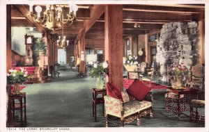 The Lobby, Briarcliff Lodge, Briarcliff Manor, New York, Early Postcard, Unused
