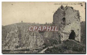 Old Postcard Crozant Tower Colin