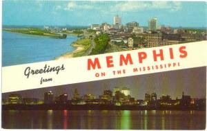 Scene Greetings from Memphis, Memphis, Tennessee, TN, Chrome