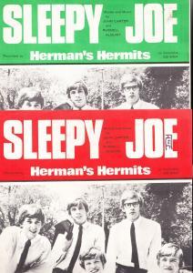 Sleepy Joe Hermans Herbits 1960s Sheet Music
