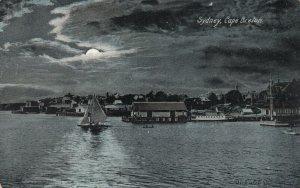 SYDNEY, Cape Breton, Nova Scotia, Canada, PU-1906; Night View, Boats