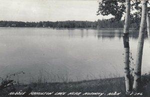 RP, NORWAY, Michigan, 1930-1940s; Middle Hamilton Lake