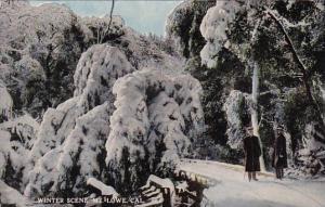 California Mount Lowe Winter Scene