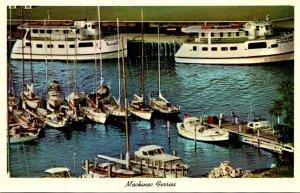 Michigan Mackinac Island Yacht Harbor The Mackinac Ferries