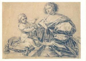 Russia Moscow Simon Vouet france young lady and her child Postcard