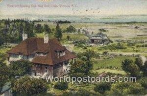 Oak Bay Golf Links Victoria British Columbia, Canada Writing On Back