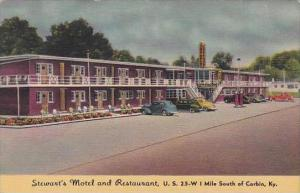 Kentucky Corbin Stewarts Motel And Restaurant