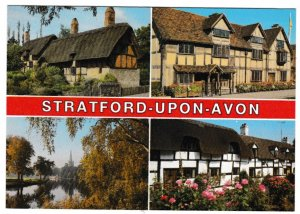 Postcard Warwickshire Stratford-upon-Avon 4 views