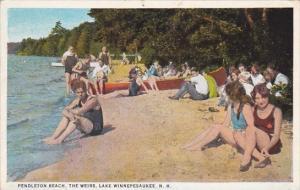 Pendleton Beach The Weirs Lake Winnepesaukee New Hampshire 1930