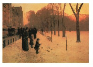 Vintage Postcard Boston Common at Twilight Painting Museum of Fine Arts