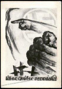 3rd Reich 1928 SA Berlin Mjoelnir Forward over the Graves Propaganda Card 94672