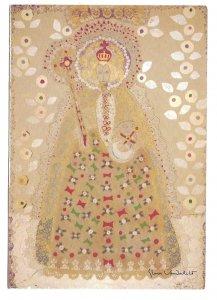 Art Gloria Vanderbilt Royal Queen Artist Signed Collage Hallmark 4X6 Postcard