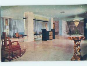 Unused Pre-1980 AMBASSADOR HOTEL LOBBY Hong Kong China F6116