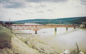 Peace River Bridge, Taylor, British Columbia, Canada, 1940-1960s