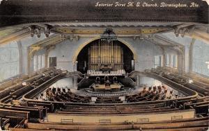 Birmingham AL~First Methodist Episcopal Church~Balcony Pews~Pipe Organ~1910 PC