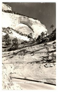 1947 RPPC Arch Mountain, Zion National Park, UT Real Photo Postcard *5N(3)28