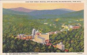 Arkansas Hot Springs National Park View From Tower Medical Arts Building Arli...