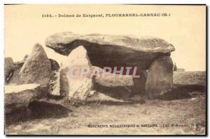 Old Postcard Dolmen Kergavat Plouharnel Carnac Megalith