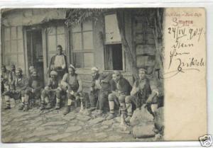 turkey, SMYRNE IZMIR, Native Turkish Cafe (1907) Stamp
