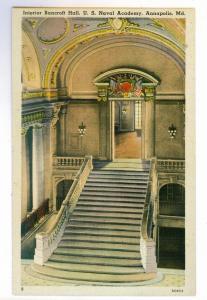 Bancroft Hall U.S. Naval Academy, Annapolis, Maryland, unused Tichnor PPC