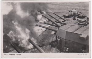 HMS RODNEY FIRING  - BRITAIN PREPARED SERIES