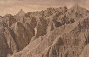 South Dakota Wall Southeast View Of The Pinnacles Badlands National Monument ...