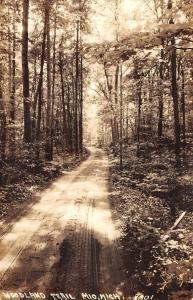 Mio Michigan Woodland Trail Real Photo Antique Postcard K79291