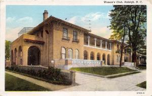Raleigh North Carolina 1946 Postcard Woman's Club