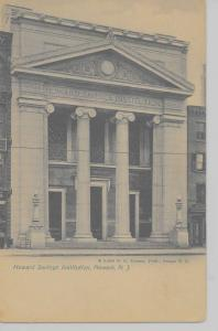 Newark New Jersey view of Howard Savings Institution antique PC Z10960