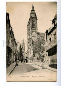 173559 FRANCE COUTANCES Saint-Pierre Church Vintage postcard