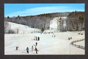 NH Monadnock Bible Conference Jaffrey Center New Hampshire Postcard Ski  Skiing